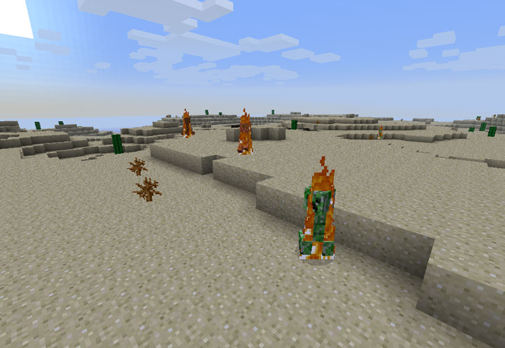 Daylight Burns Creepers для Minecraft 1.0.0