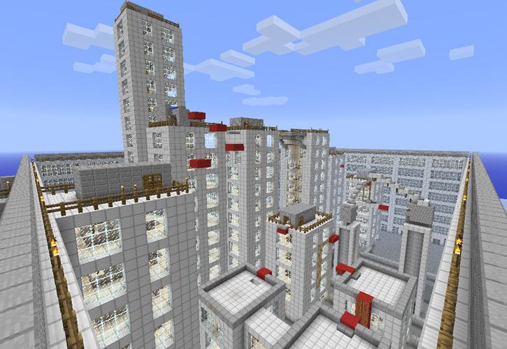 скачать карту на майнкрафт город москва