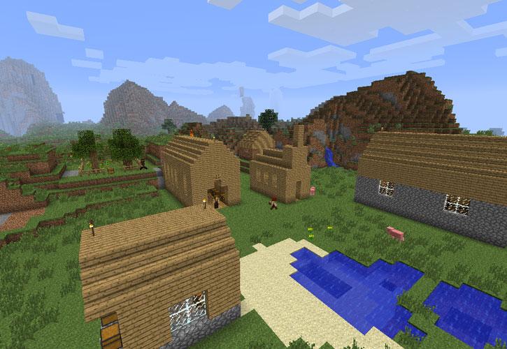 Мод для Minecraft 1 1 Деревня