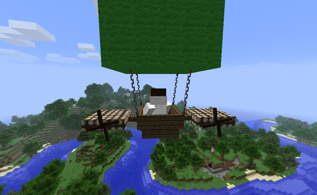 Advanced Airship Mod для Minecraft 1.6.2