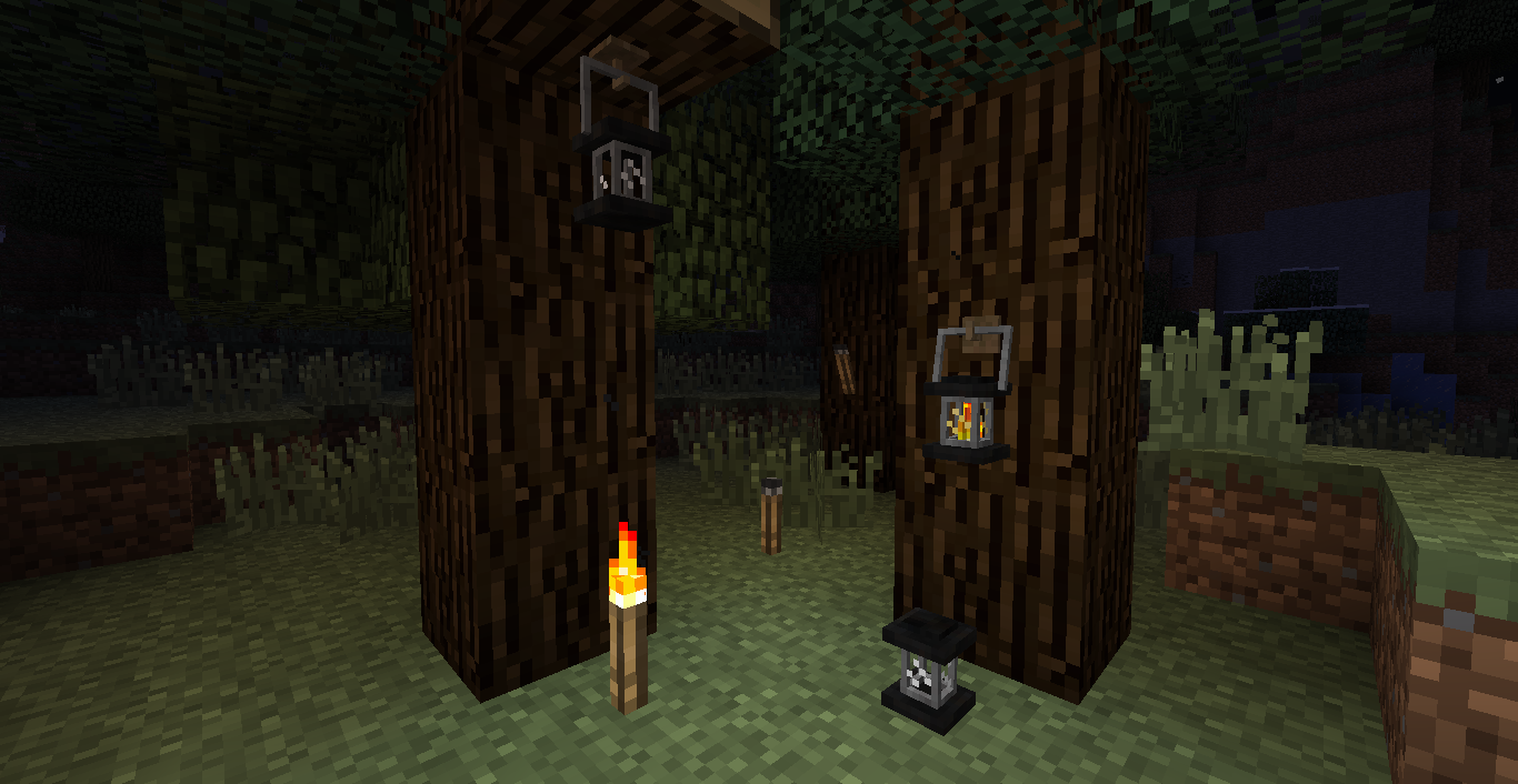 Unlit Torches and Lanterns для Minecraft 1.6.2