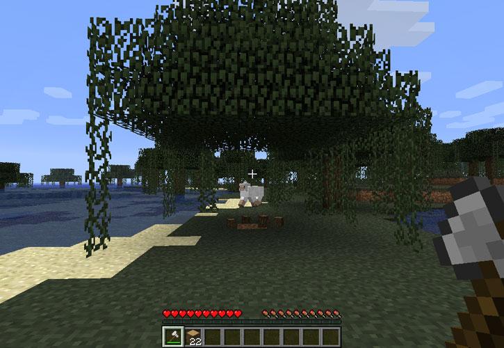 мод на майнкрафт 1.7.10 если срубить дерево